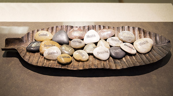 Decorative rocks with kind words at Dublin Family Dental